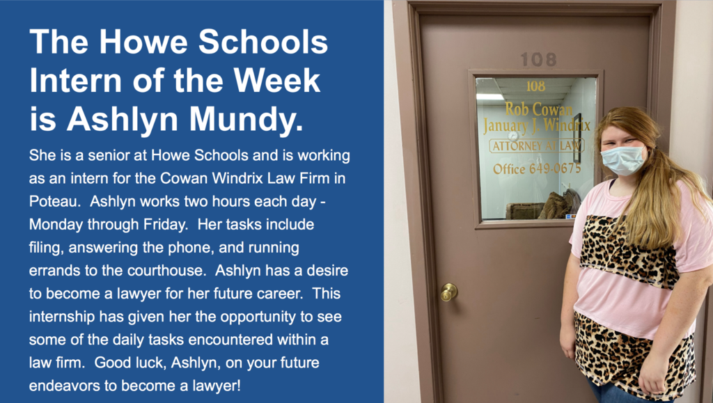 Ashlyn Mundy Intern of the Week