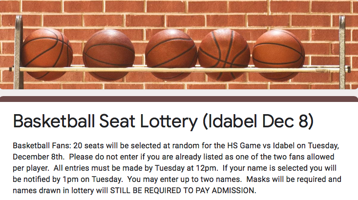 Basketball Seat Lottery