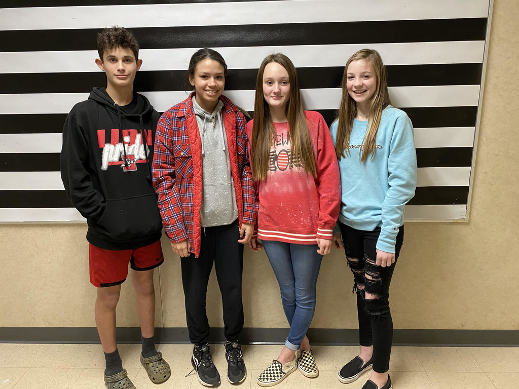From left to right: Garret S., Jozlyn J., Emma M., and Preslee J.
