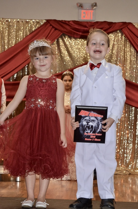 The winner of the Pre-K and Kindergarten division is Pre- K Teryn Hildebrant and Jase Fowler.