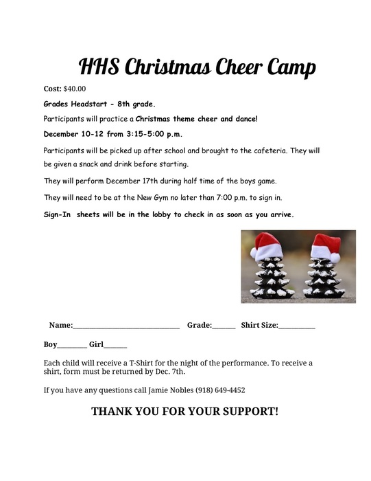 HHS Christmas Cheer Camp