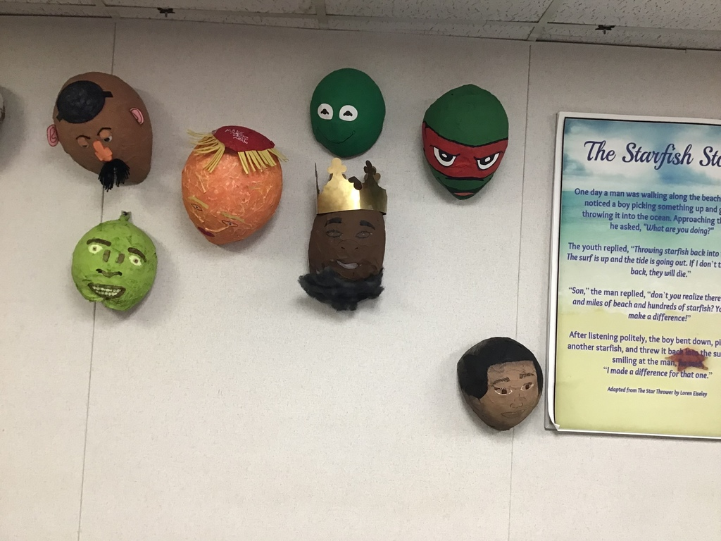 The new masks in Mrs. Donathan's class