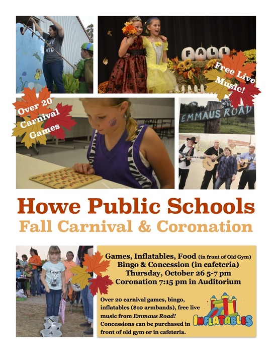 HPS Fall Carnival and Coronation Flyer