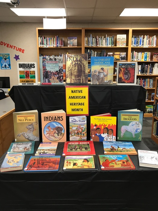 Native American Heritage Month Book Display in the Library