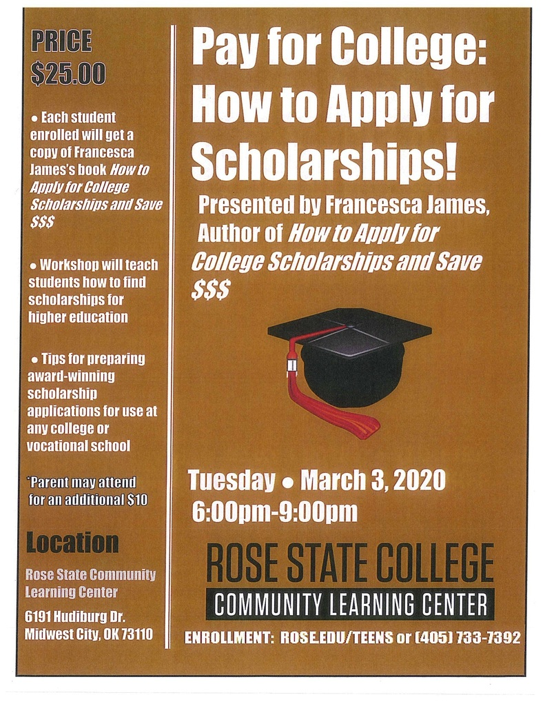 How to apply for scholarships flyer