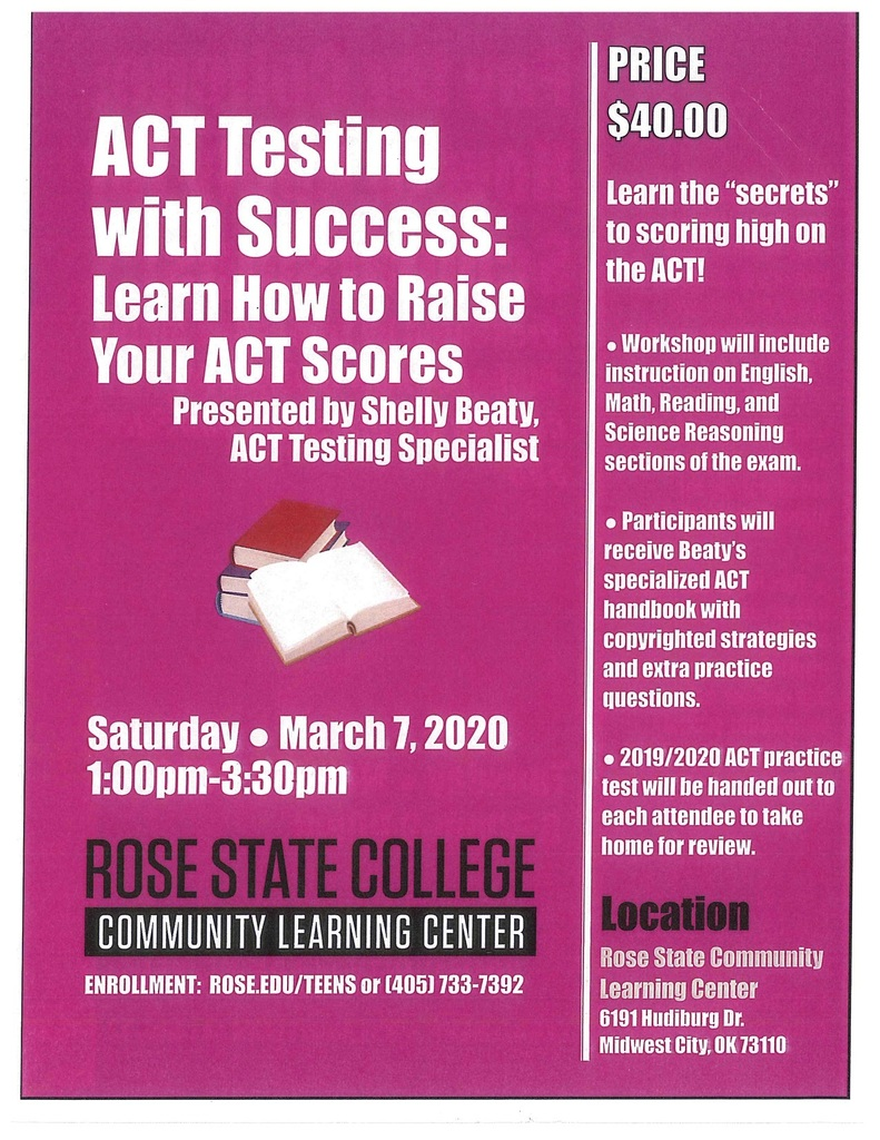 How to raise ACT scores flyer