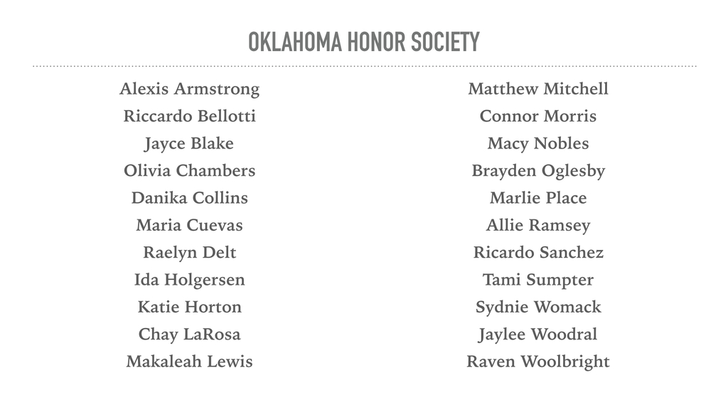 Oklahoma Honor Society